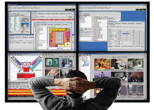 Рис №2. Наблюдение за важными участками через интегрированную систему безопасности